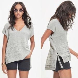 Madewell Sailport Gray Cable Knit Poncho Vest 493